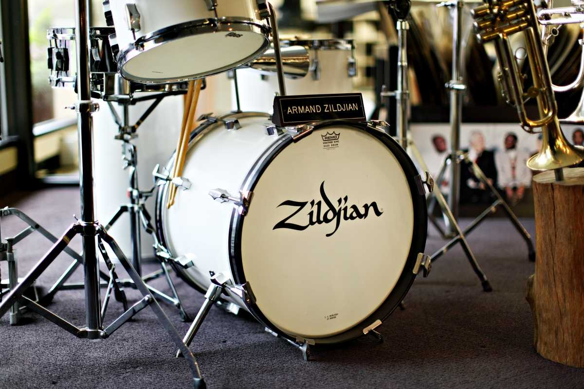 Former CEO Armand Zildjian's drum kit
