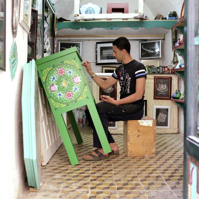 Farid Smaallah in his casbah shop