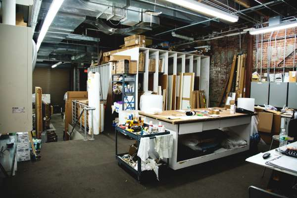 Art storage area