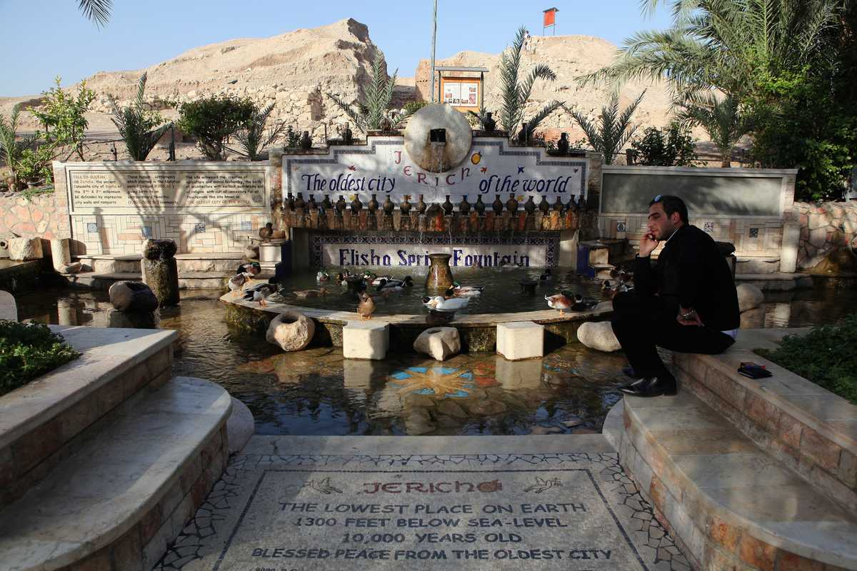 Elisha Spring next to Jericho's ancient city, Tel es-Sultan