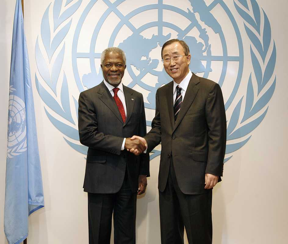 Kofi Annan and Ban Ki-moon