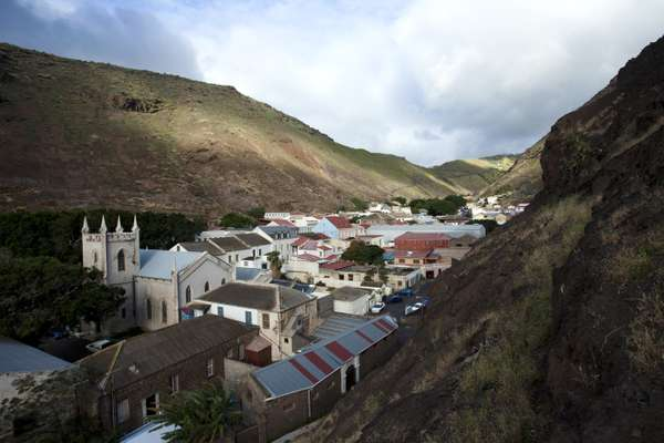 View from Jacob's Ladder, Jamestown, St Helena
