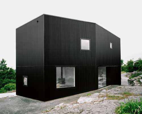 Showing his metal: Johannes Norlander's house in Gothenburg.