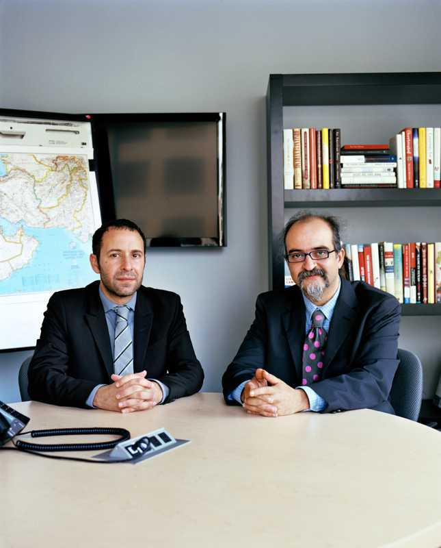 Daniel Levy and Ghaith al-Omari. Former Israeli and Palestinian peace negotiators, respectively