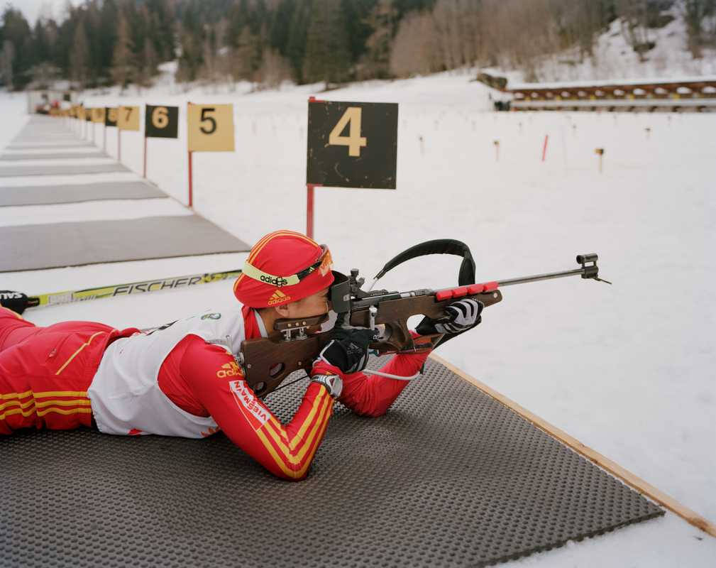 Chinese biathlon contestant
