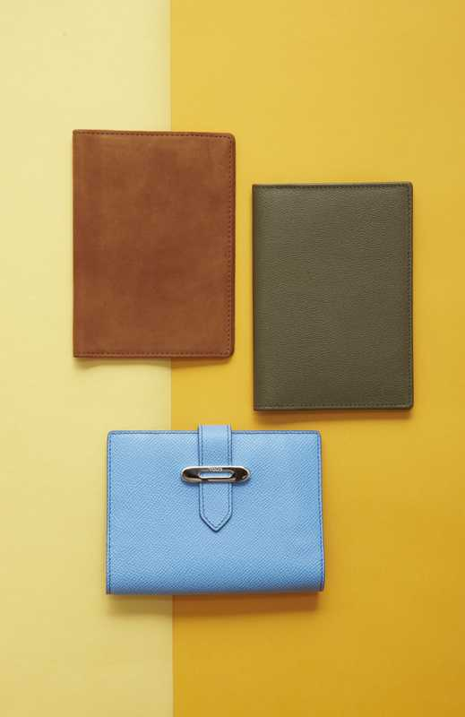 Passport cases: Want les Essentials de la Vie, Canada, Smythson, England, Tod's Italy