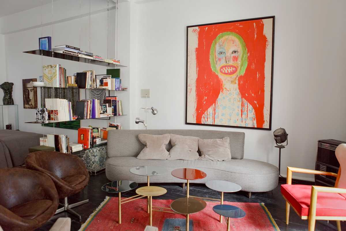 Gallerist Toufic el Zein's living room