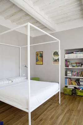 Bedroom at architect Paola Sausa's home