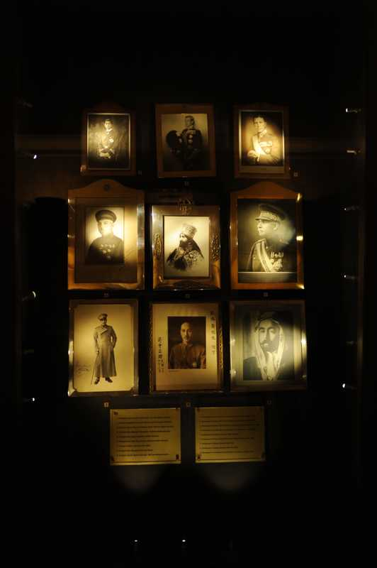 Pictures of foreign dignitaries on display at the Anitkabir museum