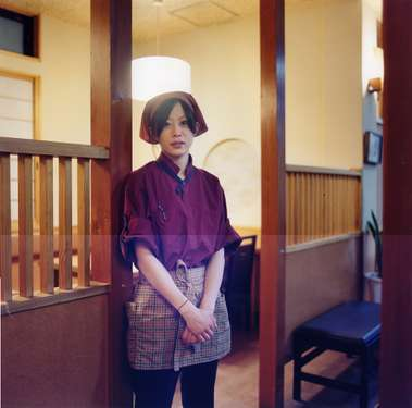 Yuka, a waitress at the Kuroshio restaurant