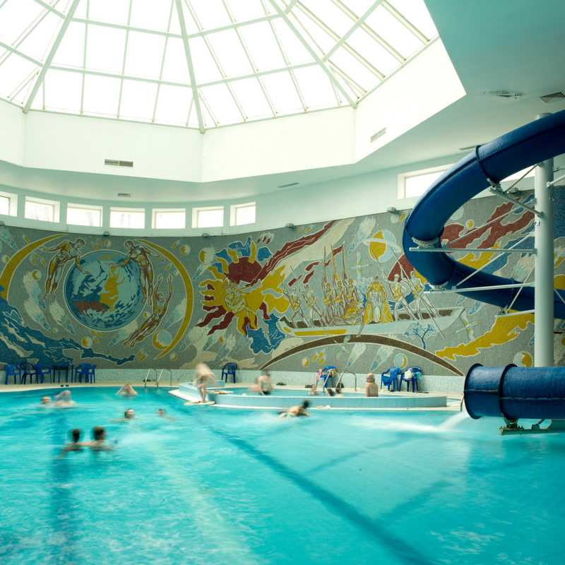 Swimming pool at Hotel Belarus