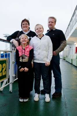 The Pärhä family on deck