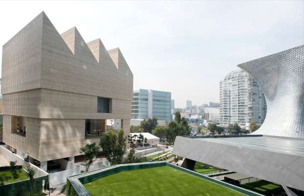 David Chipperfield's Museo Jumex building, sitting left, in the cityscape