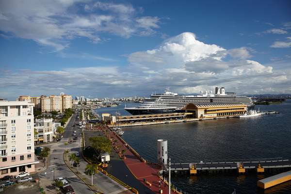 View of the San Juan cruise ship terminal