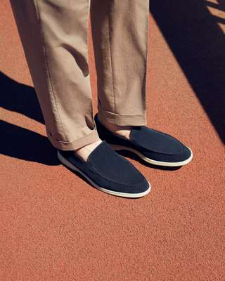 Trousers by Belvest, slip-ons by Loro Piana