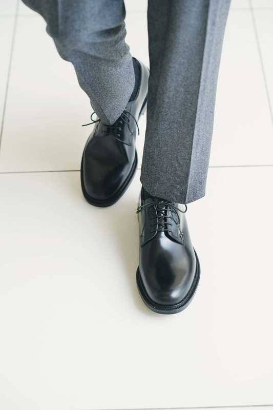 Trousers by Canali, socks by United Arrows, shoes by Church's