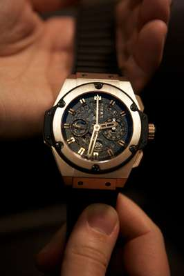 Hublot's King Power in gold (without Unico movement)