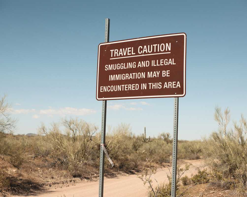 Sign in Arizona, near the border