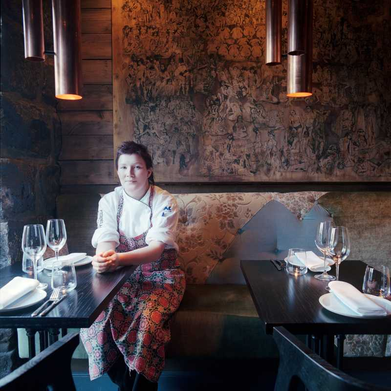 Owner/chef Vigdis Ylfa at FiskeFelagid
