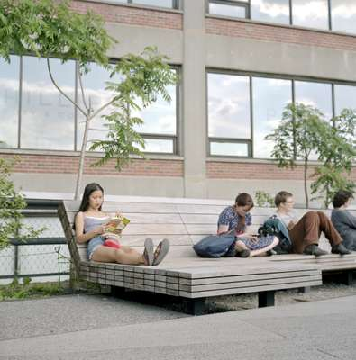 Multi-use seating features frequently