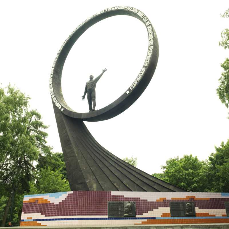Soviet monument to astronauts in Kaliningrad