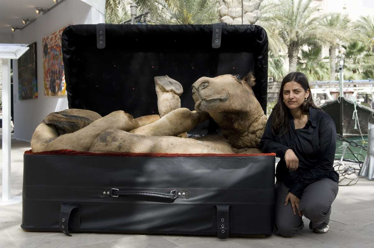 Huma Mulji with her Arabian Delight, bought by Charles Saatchi