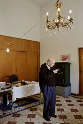 George Kassab, long-time resident and keeper of the Ibrahim Sursock estate, in one of the Sursock villas