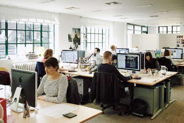 The editorial floor at Spafax, London