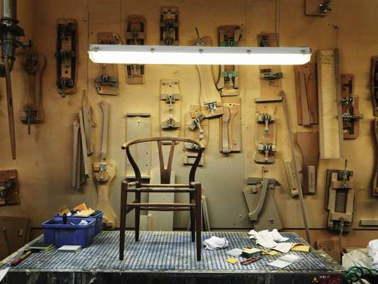 A Wishbone chair takes about a week to make