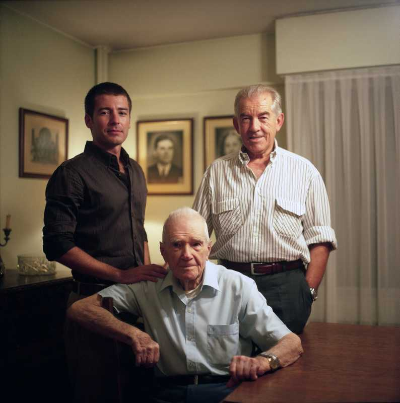 Alfred, Rodney and Andrew Simes