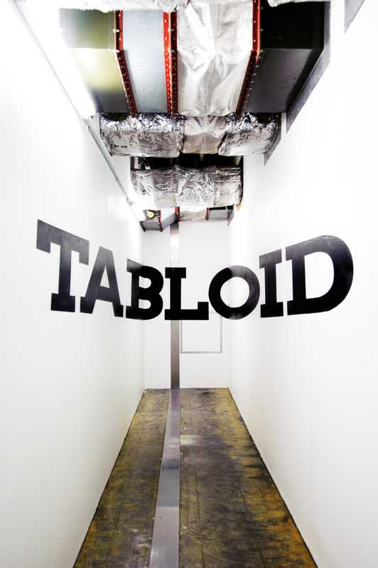 Wall graphics at Tabloid by mural artists Kabutos
