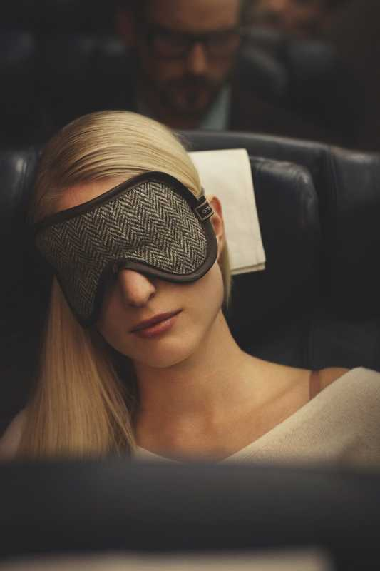 Eye mask by Otis Batterbee, dress by Galerie Vie