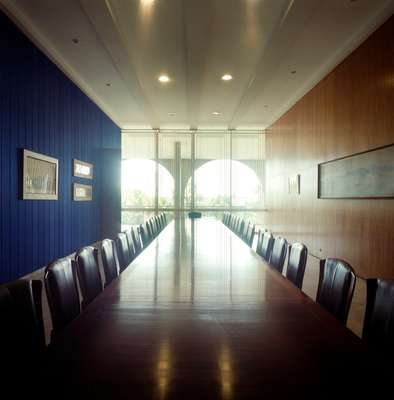 Rio de Janeiro room for formal events. Chairs by Bernardo Figueiredo were inspired by the palace's architecture