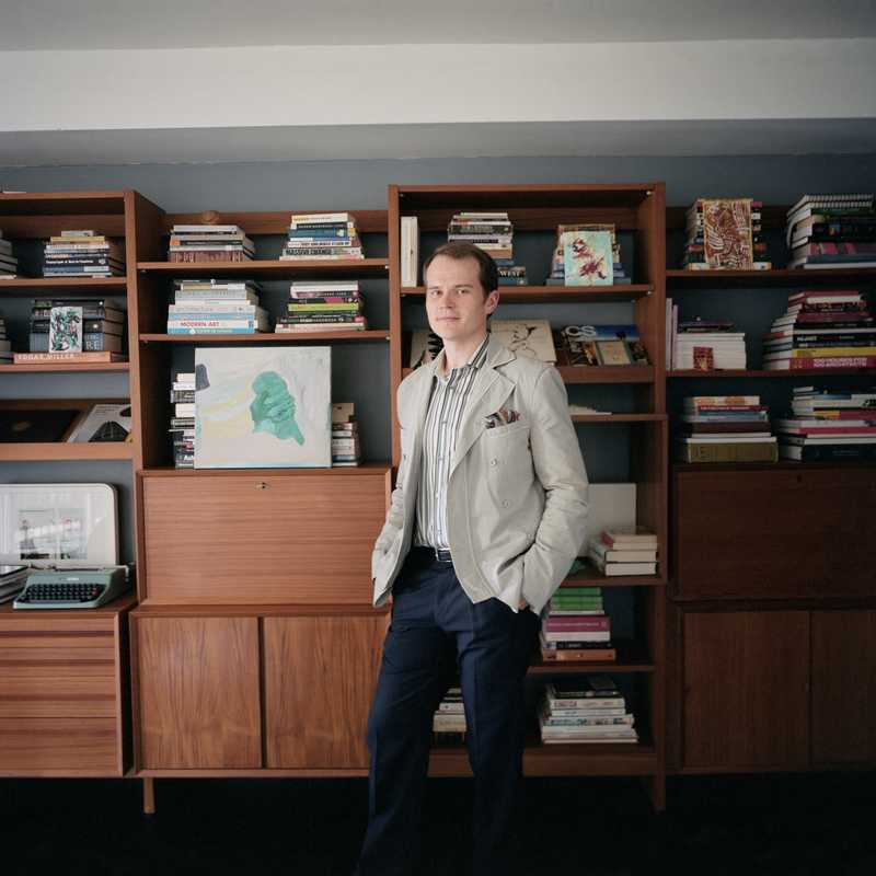 James Pike in his East Tower studio