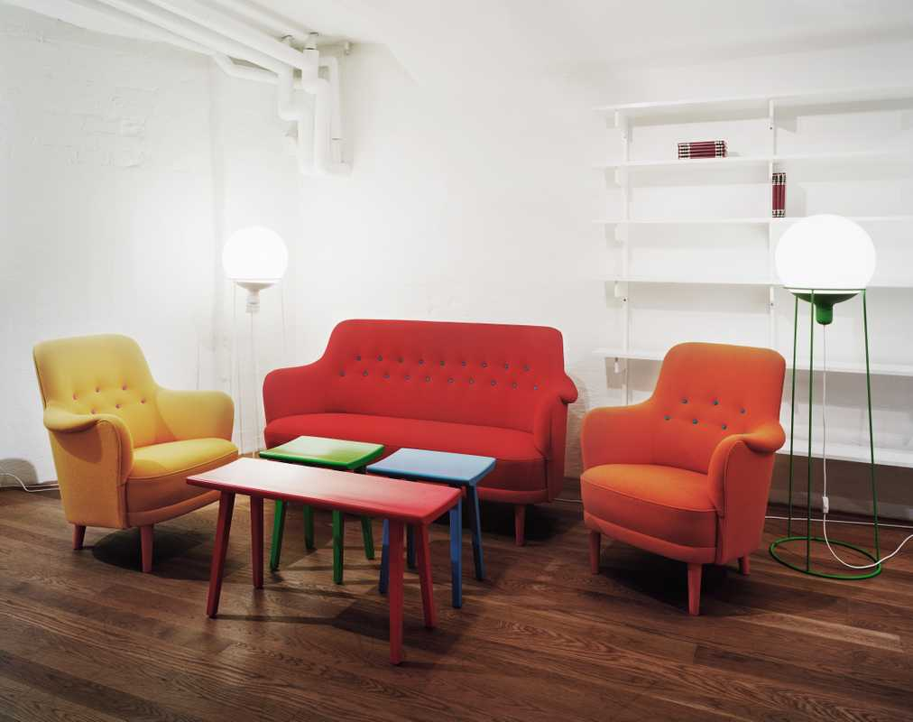 A colourful take on the classic Samsas chairs by Pontus Djanaieff