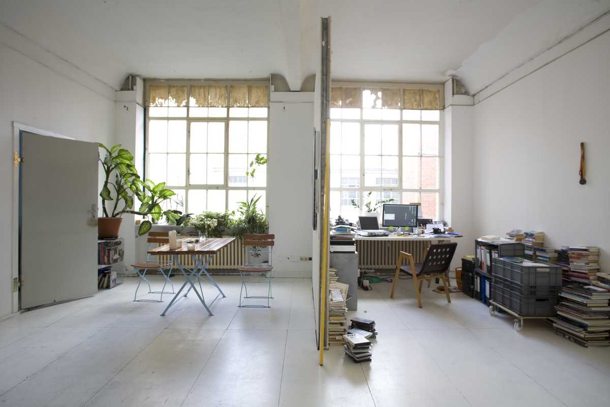 Theo Ligthart's kitchen and artist studio