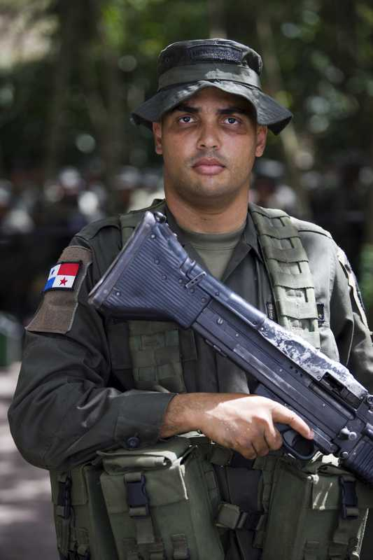 One of 20 Panamanian policemen