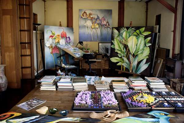 The studio of local artist Jenaro Mejia