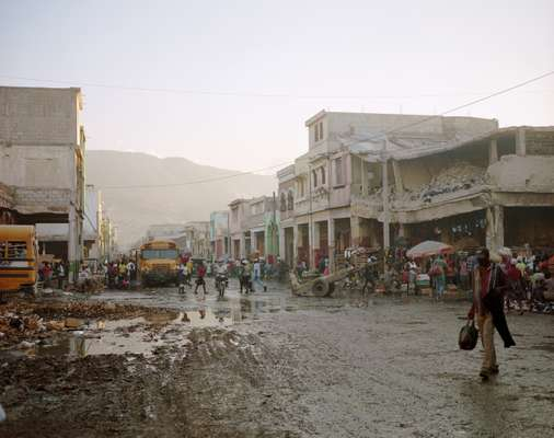 Little has changed in downtown Port-au-Prince, over two years since the quake