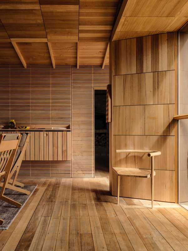 All surfaces and elements  are made from indigenous Tasmanian oak