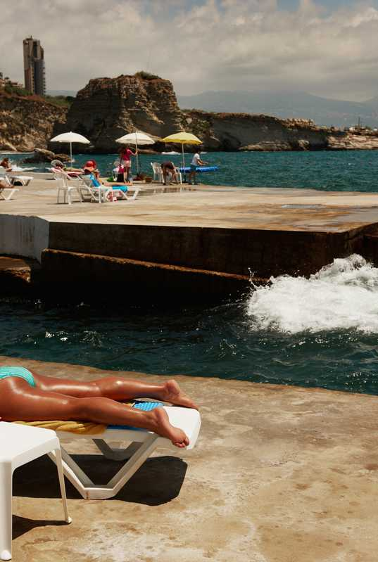 Sporting is the only beach club in Beirut with a view of the iconic Pigeon's Rock