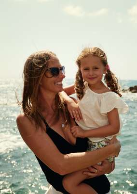 Pernille Otzen and daughter Amaya Amores enjoy a family day at Jammal's