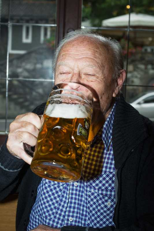 Retired Forst brewery worker Franz Werner, 89, enjoying 