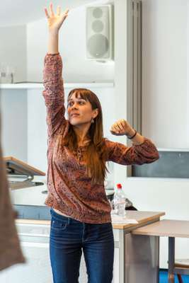 Student at a voice-training workshop