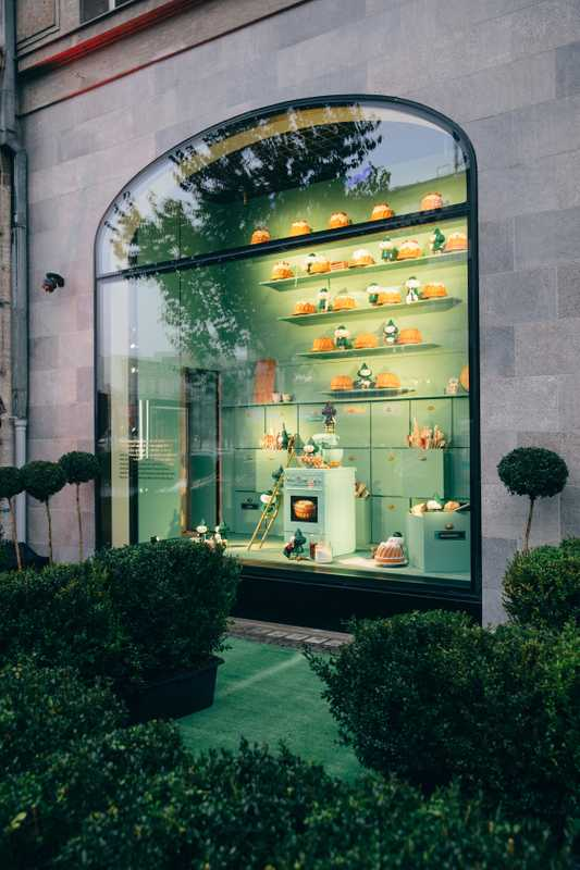 The newly opened women's fashion department, designed by India Mahdavi