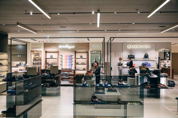 Brand new men's accessories department