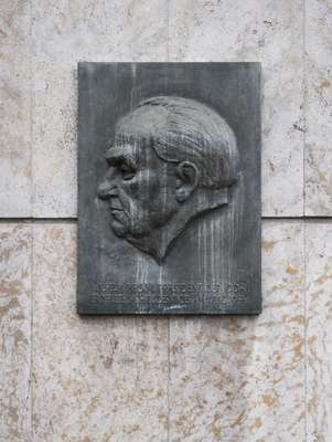 Plaque of Wilhelm Pieck