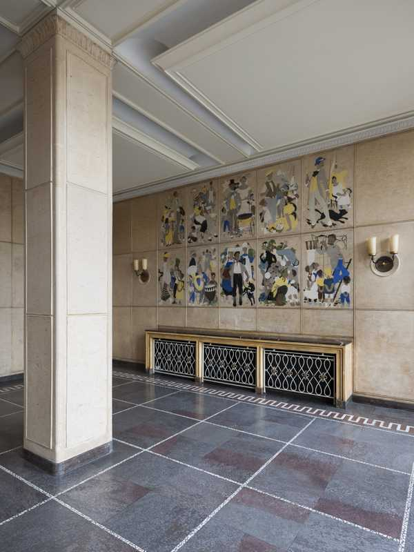 Mosaics in the foyer