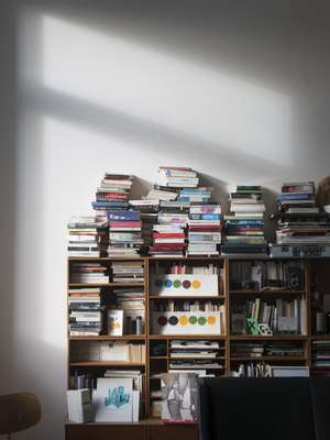 Books in Gonzalez's apartment