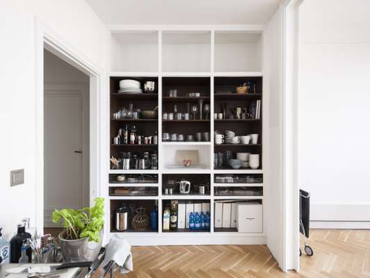 Eva-Maria Steidel's streamlined apartment